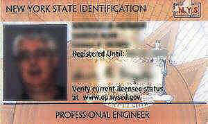 State of New York Professional Engineer ID